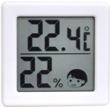 O-257WT 小さいデジタル温湿度計 ホワイト 91966075