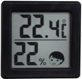 O-257BK 小さいデジタル温湿度計 ブラック 91967075