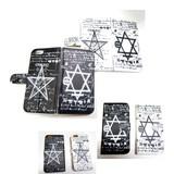 六芒星、星型六角形、ヘキサグラム (Hexagram)【魔方陣】手帳型iPhone6ケース【パッケージ有】