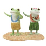【Copeau】樹脂 カップルでフラダンスするカエル