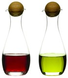 【スタイリッシュなキッチン雑貨】Oil/Vinegar bottle with oak stoppers, 2pack