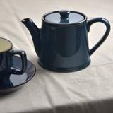 Scandinavia Blue Tea Pot Tea Strainer Attached MINO Ware
