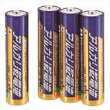 010415 単4 アルカリ乾電池 4P