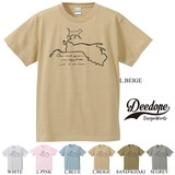 "【DEEDOPE】""CAT OR LION"" 半袖 プリント Tシャツ 綿100% カットソー"