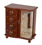 Wooden Jewel Box Brown Music Box Series