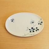 【有田焼】のばら 楕円皿
