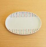 【有田焼】二色十草 楕円皿
