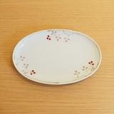 【有田焼】木の実(赤) 楕円皿