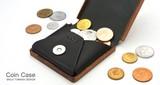 【木製雑貨】木と革のコインケース