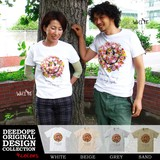"""【DEEDOPE】""""SMAIL FLOWER""""  半袖 プリント Tシャツ 綿100% カットソー スマイル にこちゃん"""