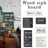 ■2015SS 新作■ Wood sign board