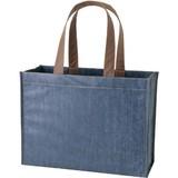 Film Square Tote Fake Denim Tote Bag Logie Bag