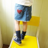【CHICHIKAKA 2015年春物】ハートデニムスカート
