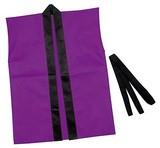 【ATC】カラー不織布ハッピ子供用袖無 S 紫 2383