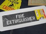 ステンシル 【FIRE EXTINGUISHER】 セーフティサイン プラスチック製 HANSON stencils