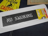 ステンシル 【NO SMOKING】 セーフティサイン プラスチック製 HANSON stencils