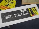 ステンシル 【HIGH VOLTAGE】 セーフティサイン プラスチック製 HANSON stencils