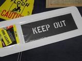 ステンシル 【KEEP OUT】 セーフティサイン プラスチック製 HANSON stencils