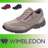 WIMBLEDON レディス定番スニーカー ファスナー付き W/B L032