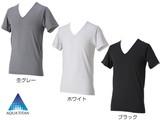 RAKUシャツメンズインナーV首半袖 杢グレー  L インナーシャツ