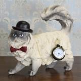 ★歳末SALE特価★アンティーク・オブジェ・シャーロック猫