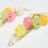 Confetti Pierced Earring Kyoto Japanese Craft Fancy Goods