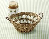 Basket Round Basket Artisans Hand Knitting Natural Material Storage