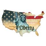 【スティールサイン】【ルート66】Liberty USA<看板> ★アメリカ製★