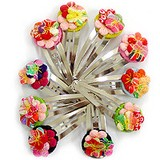 Flower Hairpin Patchin Type Kyoto Japanese Craft Fancy Goods Hair Accessory Decoration