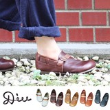 Linen Repeat Rate Leather Shoes
