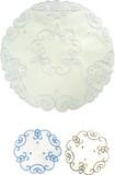 刺繍テーブルマット(丸型Φ20cm) 124-03