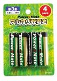 パワーメイト アルカリ電池(単3・4P) 271-03
