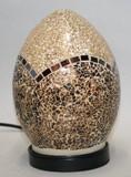 モザイク 硝子 ランプ 卵型 金