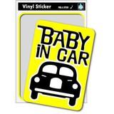 マジステ SK-163 Baby in car-yellow02 ベビーインカー 出産祝いや車に
