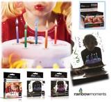 カラーフレーム パーティーキャンドル『rainbow moments』(12本セット)