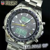 エルジン ワ−ルドタイム ソ−ラ−電波ウォッチ FK1391S−BP
