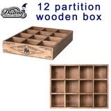 12 PARTITION WOODEN BOX H65