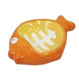 ねこちゃん専用餌入れ フィッシュボウル オレンジ 可愛いネコちゃんのために