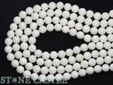【天然石丸ビーズ】ホワイト珊瑚 10mm【天然石 パワーストーン】