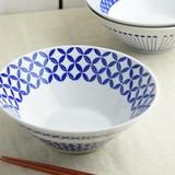 Blue Pattern Cone Bowl Donburi Bowl MINO Ware