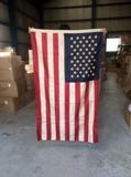 ビンテージルック刺繍アメリカンフラッグ90x150cm