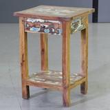 カプラ サイドテーブル(上引き出し付)