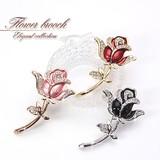 Elegant Glitter Flower Rose Brooch Flower Rose