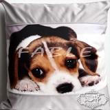 【犬/猫/ウサギ】抱き枕 クッションカバー45X45cm北欧 モノトーンキラキラ ゴージャス