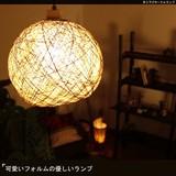 可愛いフォルムの優しいランプ【吊り下げサークルランプ】エスニックランプ