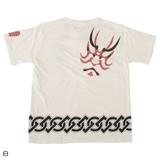 Japanese Pattern Print Short Sleeve T-shirt KABUKI Print Men's