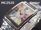 MontresCollectionメンズ腕時計 メタルウォッチ 日本製高性能省電力ムーブメント 電池寿命4年以上