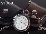 VITAROSO革ケース付き懐中時計 日本製ムーブメント