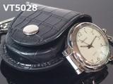 VITAROSO革ケース付き懐中時計 ルーペ付き 日本製ムーブメント