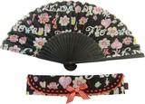 【セール】【日本製】バルーンハートの扇子【オリジナルプリント】【プレゼント・ギフト】